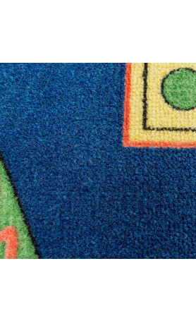 mensch rgere dich nicht design spiele kinder teppich mit spielfiguren 92x92cm ebay. Black Bedroom Furniture Sets. Home Design Ideas